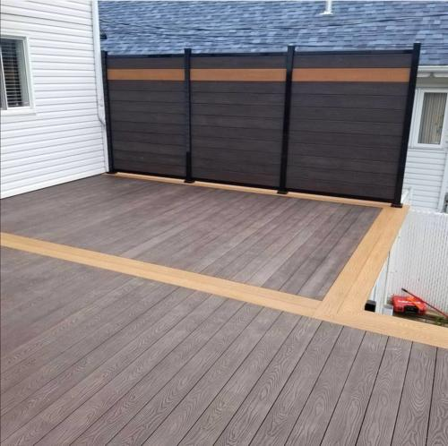Houng® 3d deep embossed decking projects